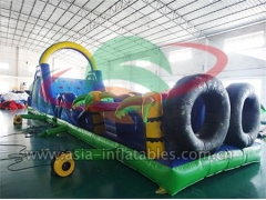 Hot Selling Party Inflatables Outdoor Sport Games Inflatable Palm Tree Obstacle For Adult in Factory Price