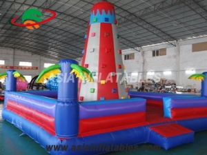 Hot Selling Commercial Palm Tree Design Inflatable Climbing Wall For Kids