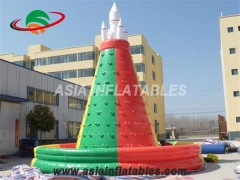 Commercial Kids Inflatable Rock Climbing Wall With Fireproof PVC Tarpaulin & Customized Yours Today